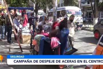 CAMPAÑA DE DESPEJE DE ACERAS EN CENTRO DE LA CIUDAD DE TARIJA