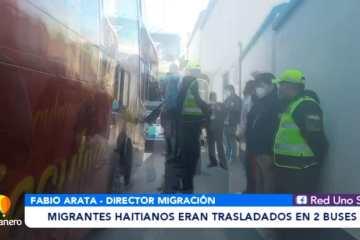 MIGRANTES HAITIANOS ERAN TRASLADADOS EN 2 BUSES