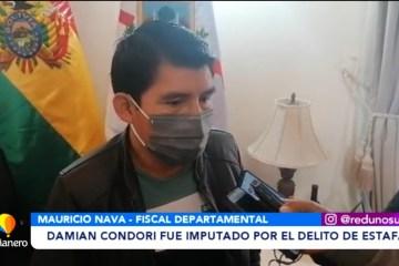 DAMIÁN CONDORI FUE IMPUTADO POR EL DELITO DE ESTAFA