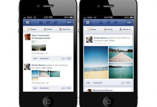 Facebook cambia la visualización de las fotos en su versión móvil para tener una navegación más eficiente.