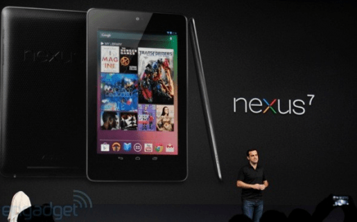 Nexus 7 estará disponible a partir de mediados de julio. (Foto: Engadget)
