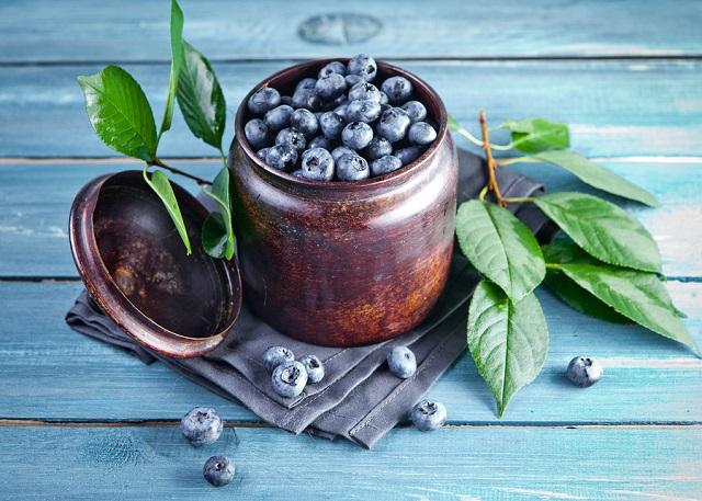 bigstock Freshly picked blueberries in 146962298