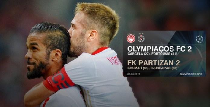 Ολυμπιακός – Παρτίζαν 2-2