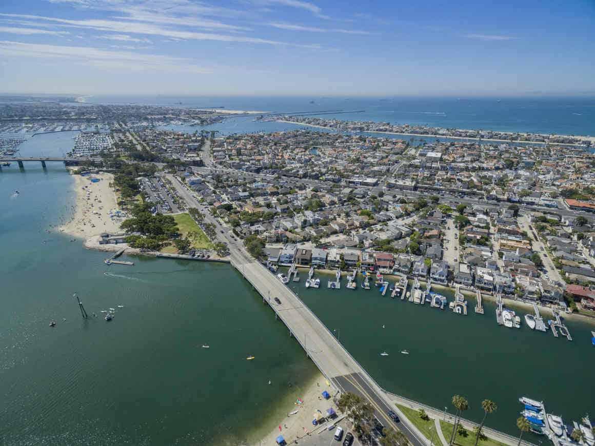 Belmont Shore - Naples Area Long Beach Homes Ariel Photo