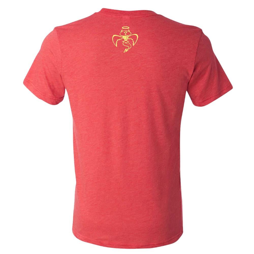 Red Wanting Blue Bear Hunter Shirt Back