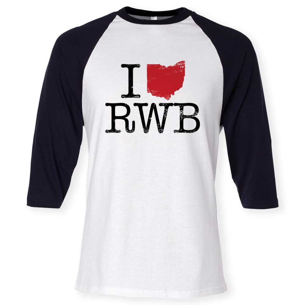 Red Wanting Blue Baseball Shirt