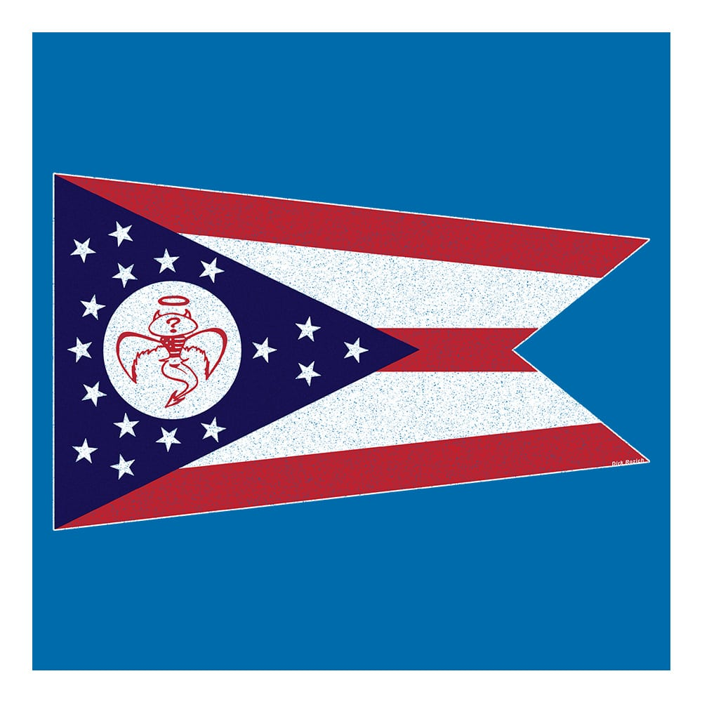 Red Wanting Blue Ohio Flag Shirt Back Design