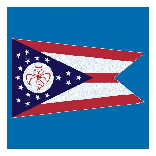 Red Wanting Blue Ohio Flag Shirt Back Design