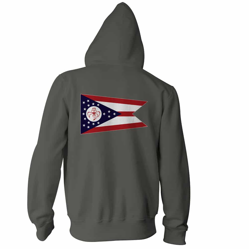 Red Wanting Blue Ohio Flag Hoodie Back