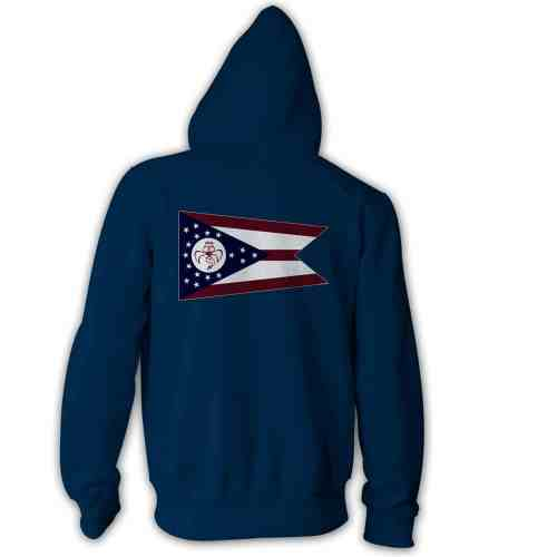 Red Wanting Blue Ohio Flag Hoodie Back Blue