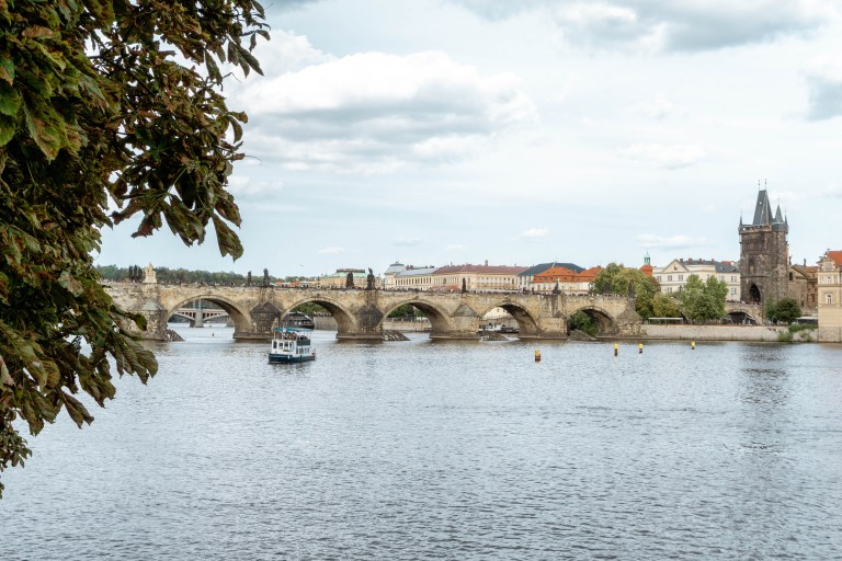 Beautiful Charles Bridge in The Czech Republic.