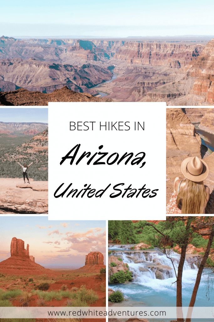 Pin for the best hikes in Arizona