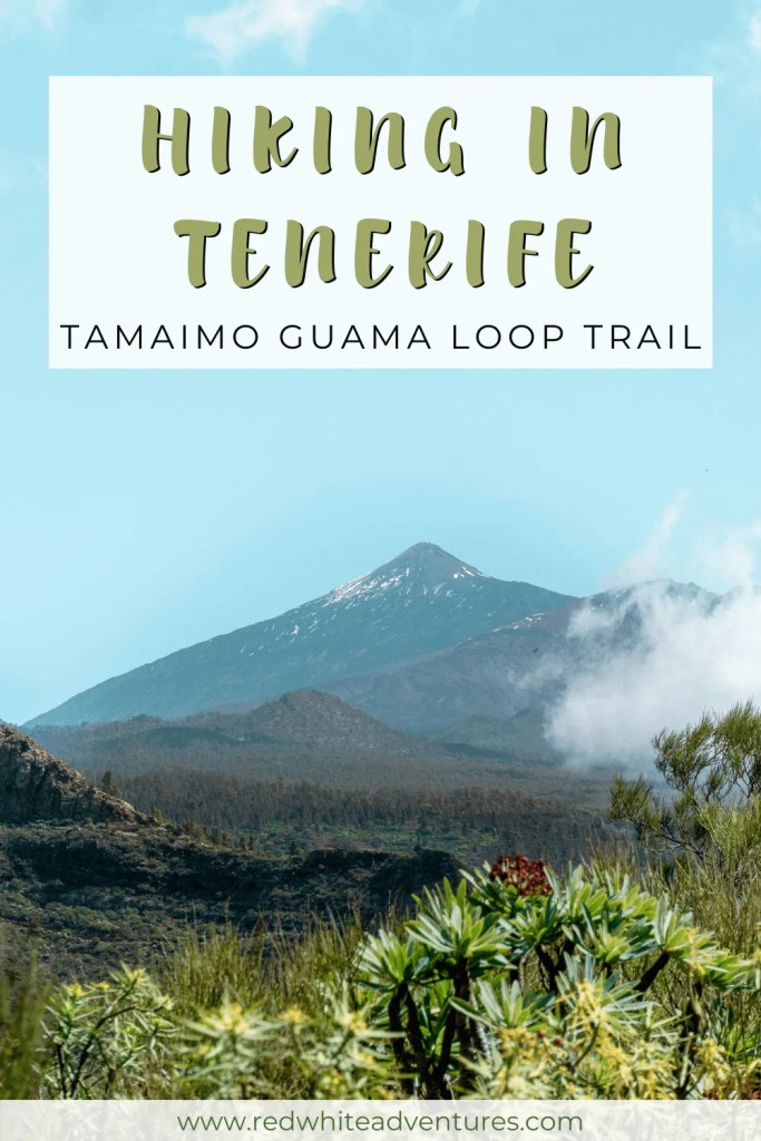 Hiking in Tenerife pin for Pinterest.
