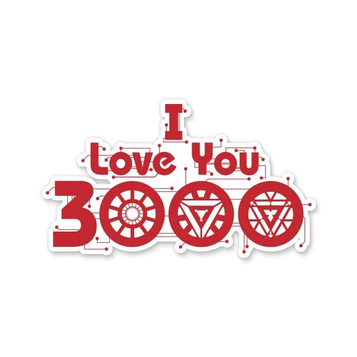 Download Iron Man: I Love You 3000   Official Marvel Stickers   Redwolf