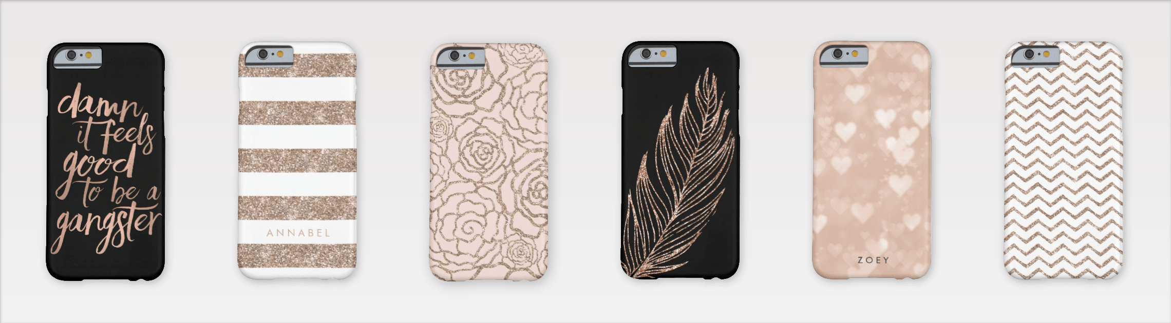 Rose Gold iPhone Cases