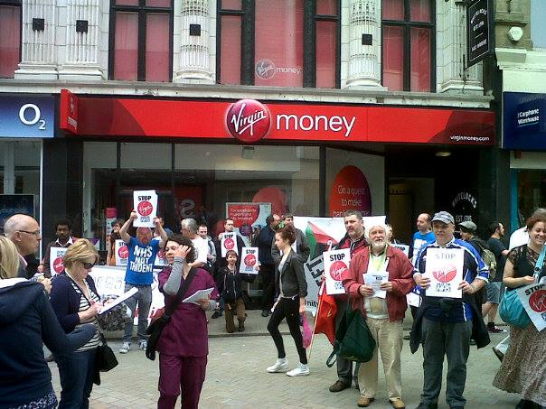 KONP Leeds NHS birthday Virgin Protest 6.13