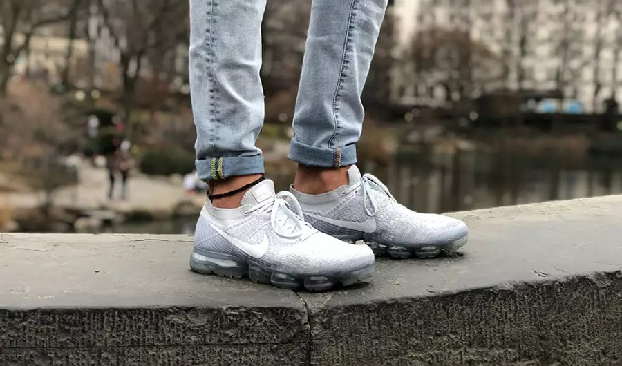 Nike Air Vapormax Flyknit Jeans Uomo Bianchi KWgFkf4F