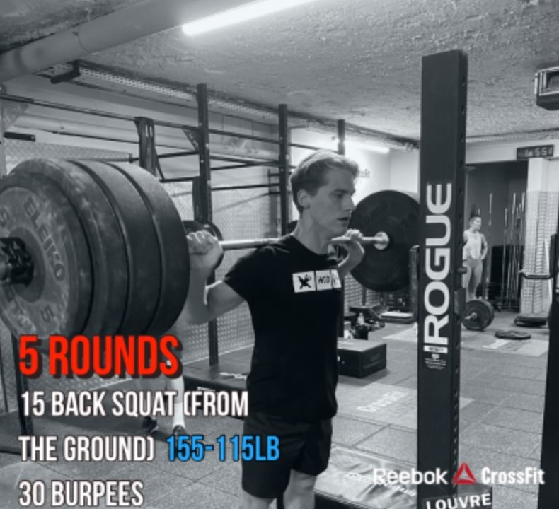 Wod CrossFit Squat Run