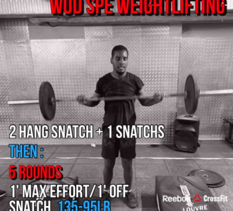 WOD CrossFit Snatch