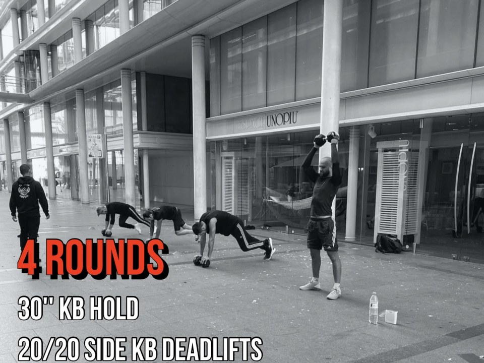 deadlift KB hold Front Squat