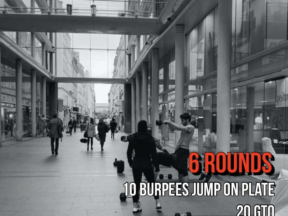 Burpee GTO OH Lunges