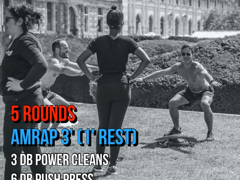deadlift push press power clean DB