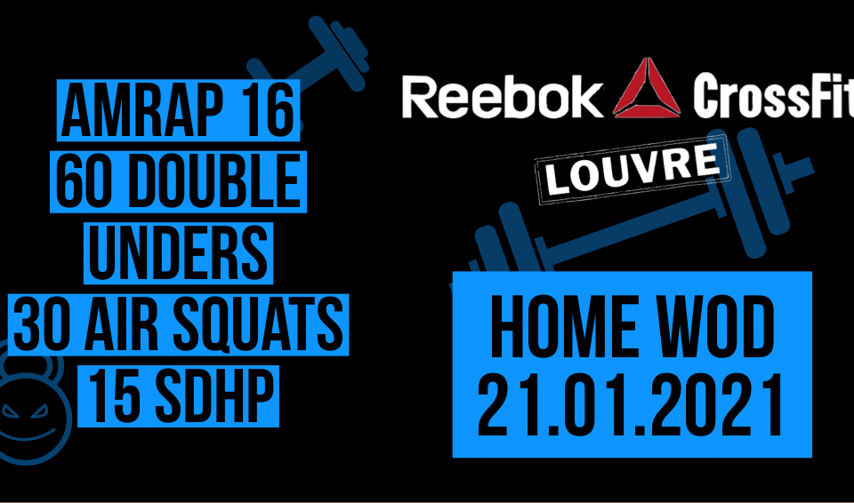 Double Under Air Squat Sumo Deadlift High Pull Fast WOD Metcon