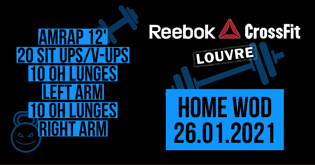 V-Up Overhead Lunges AMRAP Gym Weightlifting