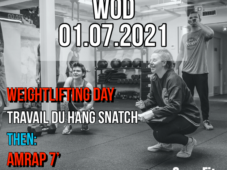 Hang Snatch AMRAP Burpee To Target Weightlifting Day