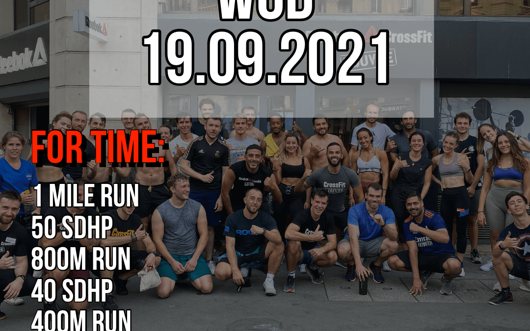 Couplet For Time Run Sumo Deadlift High Pull