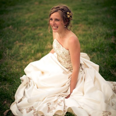 Bride in Dress Smiling