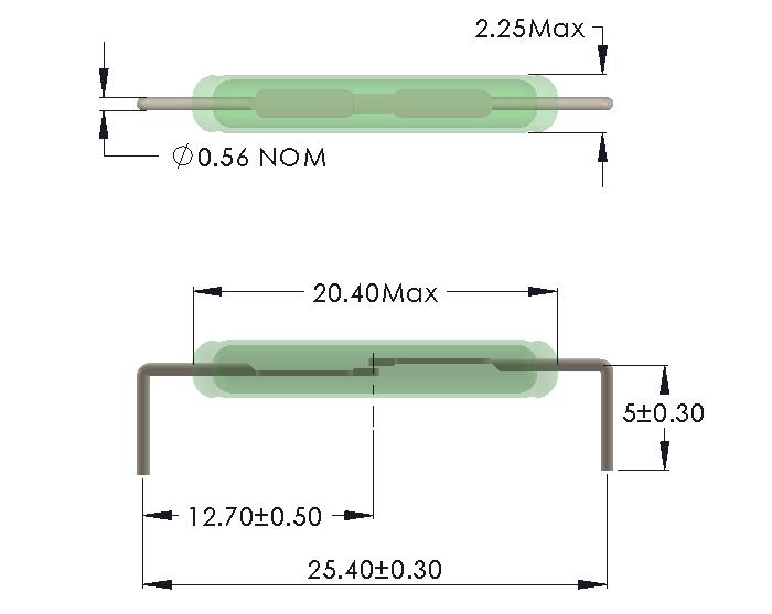 Drawing for Horizontal mounting
