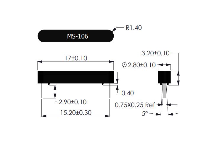 MS-106 Reed Sensor Drawing