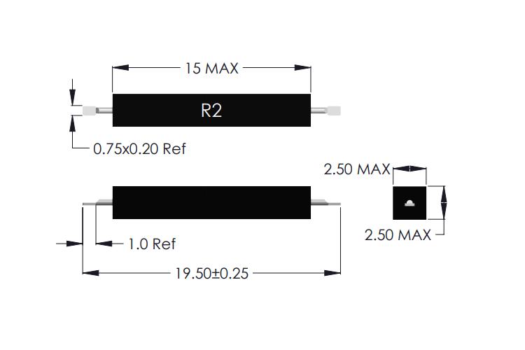 Drawing of R2-F Reed Sensor