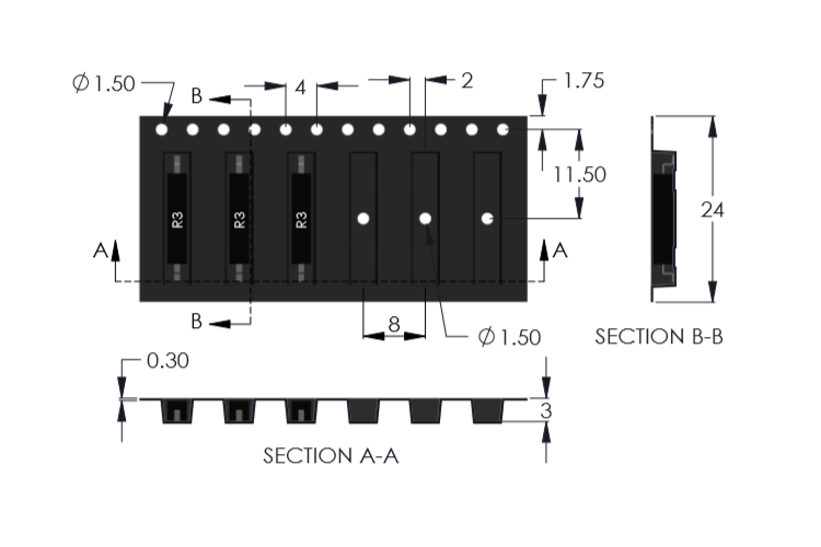 Drawing of R3 Reed Sensor Tape