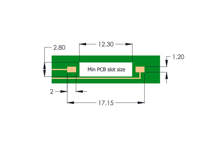 Drawing of R3F Reed Sensor PCB Layout