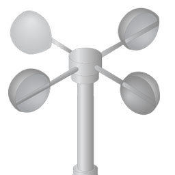 Reed switches in anemometer