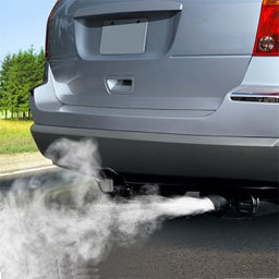 Automotive exhaust fume emission
