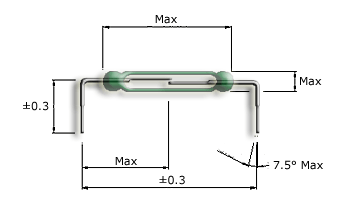 Goal-post formed Reed Switch Tolerances