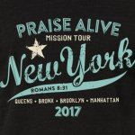 praise alive ny black tshirt