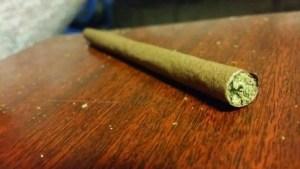 Marijuana Blunt on a Table