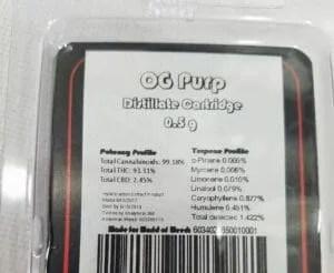 OG Purp Cartridge Package