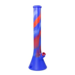 Tall Blue Silicone Bong