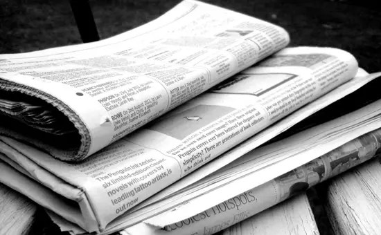 Newspaper - in ancient Rome the government announced news on carved metal and stone bulletins posted in public places