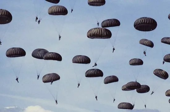 Lots and lots of parachutes