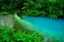 The wonderfully beautiful turquoise color of the Rio Celeste