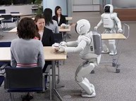 Honda scientists hope that one day robots like ASIMO can help make humans' lives easer