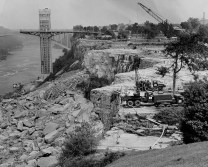 Niagara Falls in 1969 after all water was diverted away