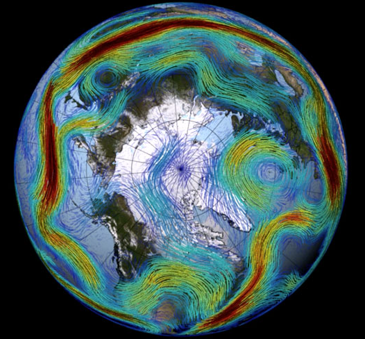 Rossby waves in the jet stream