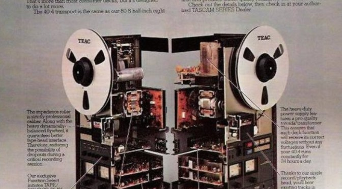 vintage advertisment TEAC TASCAM 40-4 | the deck that separates the pros from the amateurs